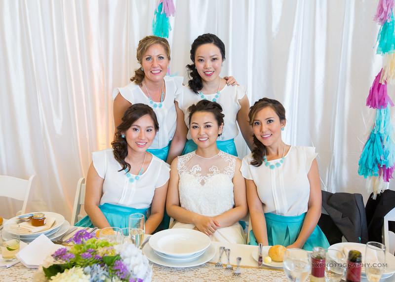 Wedding Party MakeupPhoto credit: Yang Xia Photography